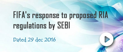 FIFA's response to proposed RIA regulations by SEBI